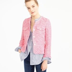 J. CREW Peplum Lady Jacket in Neon Fuchsia Tweed